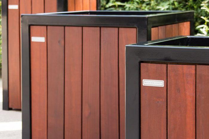 Woodcoats detail plantenbak zwart